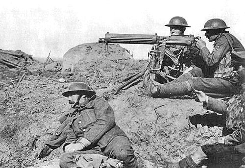 Vickers machine gun in the Battle of Passchendaele September 1917